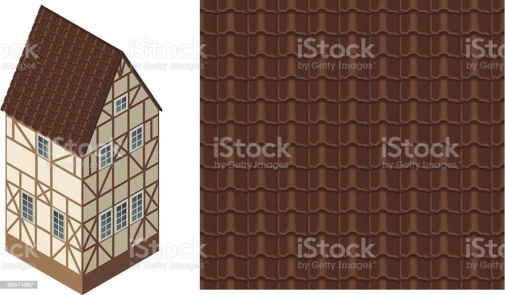 Roof Tile vector art illustration