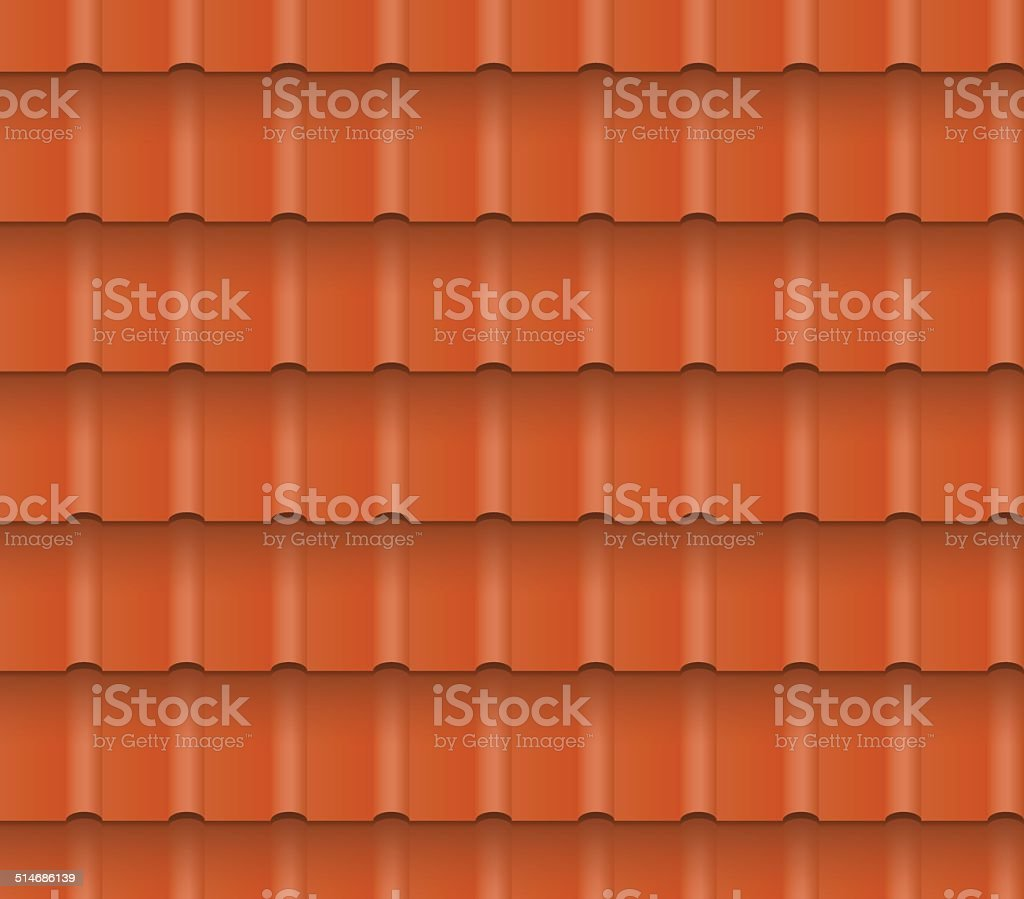 roof tiles vector art illustration