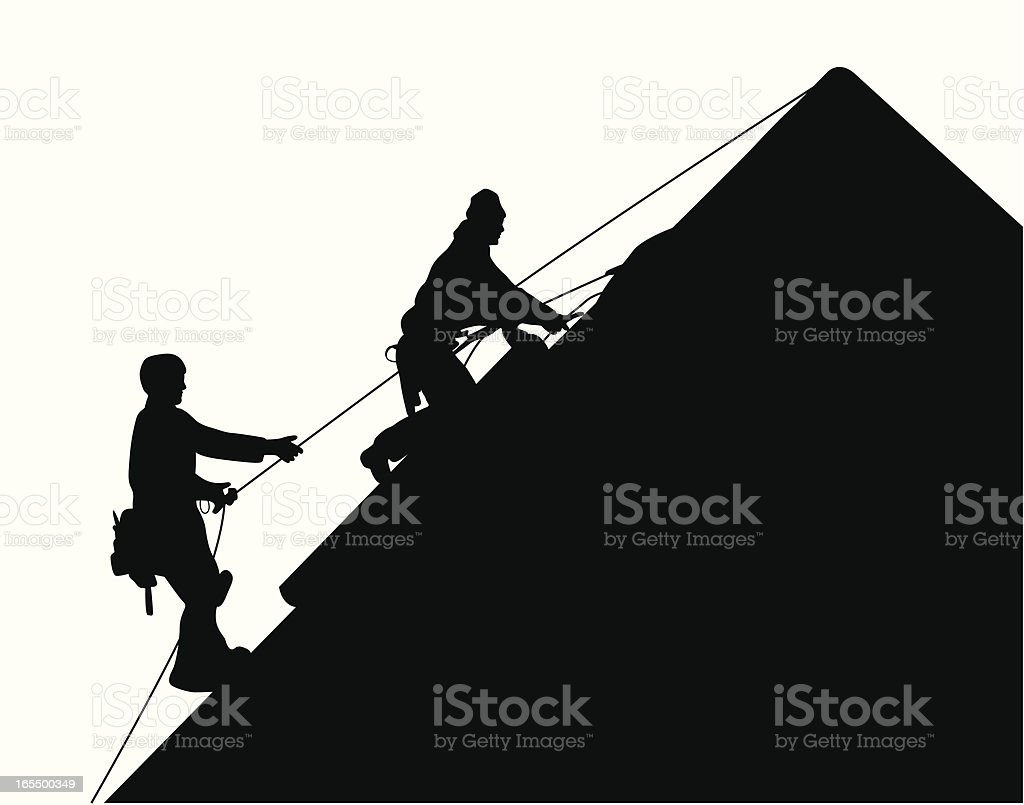 Roofers Vector Silhouette royalty-free stock vector art