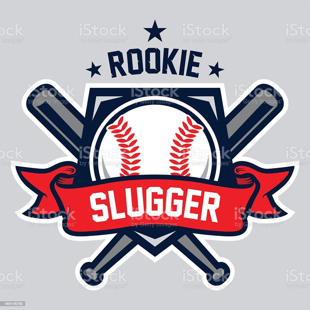Rookie Slugger Logo vector art illustration