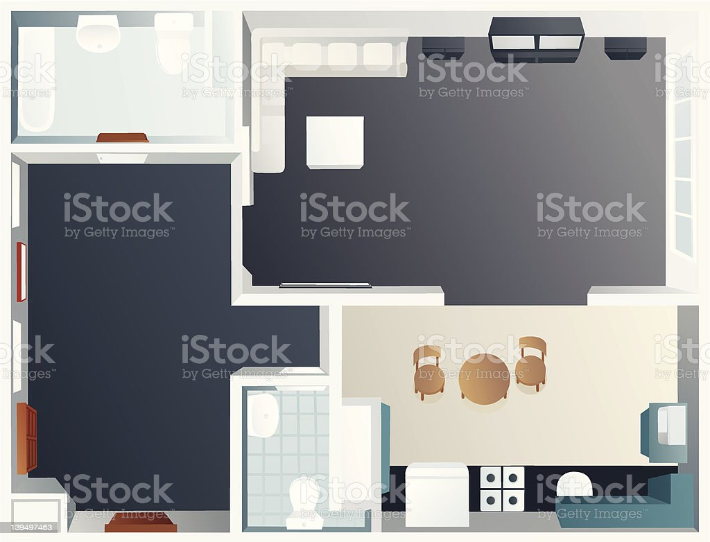 room plan - vector illustration royalty-free stock vector art
