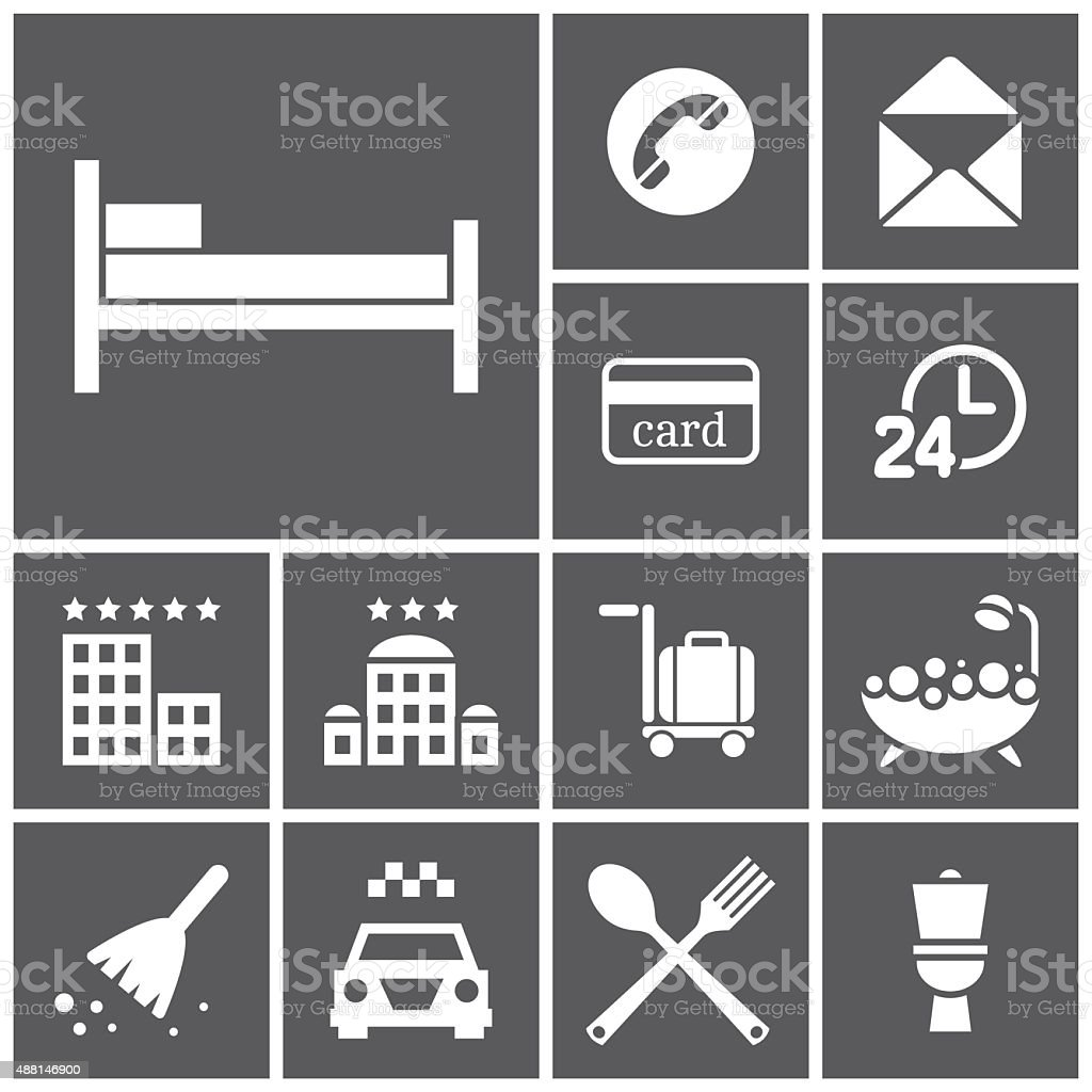 Rooming icons vector art illustration