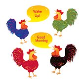 Rooster Cartoon Characters