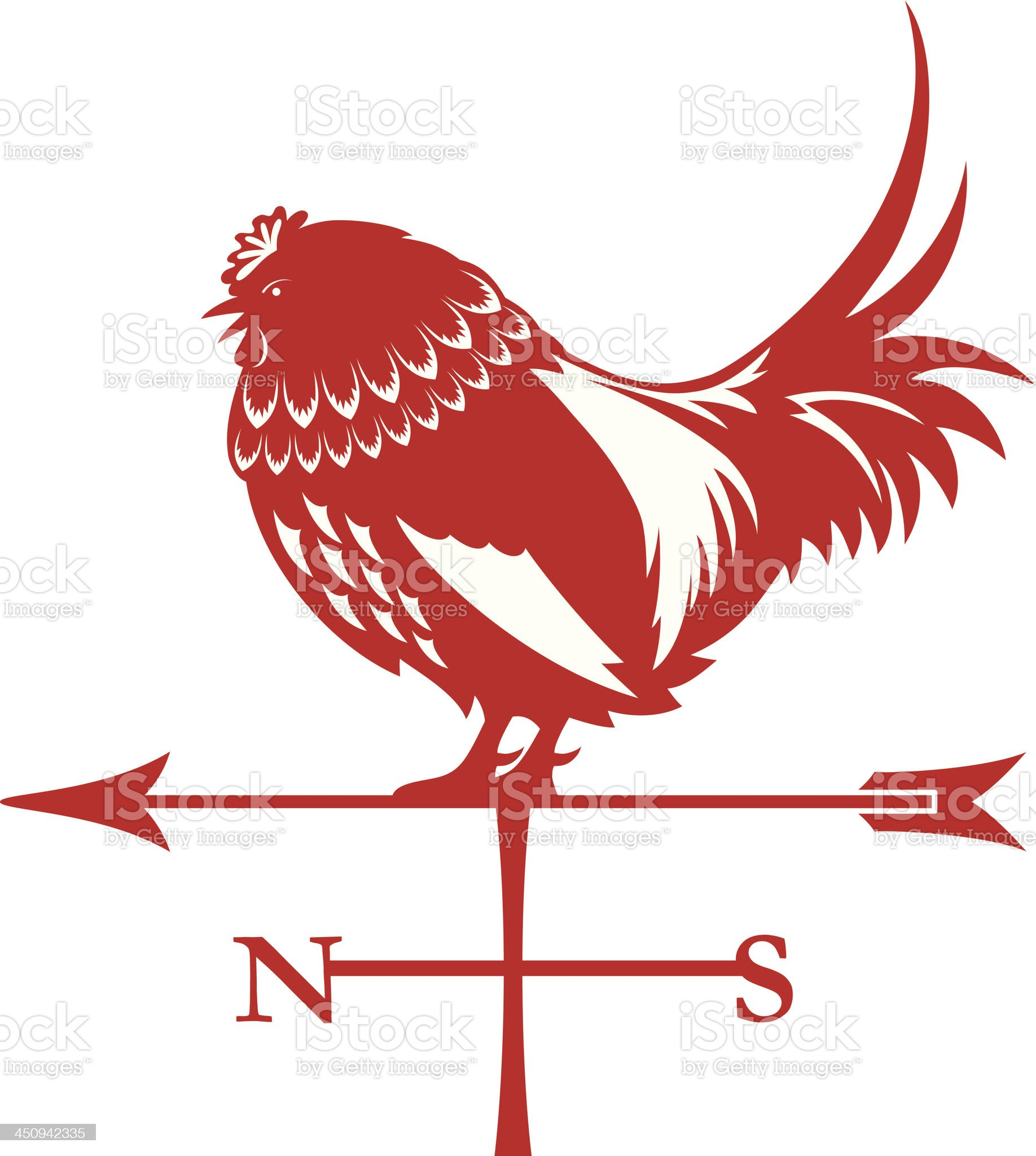 Rooster Silhouette Icon royalty-free stock vector art
