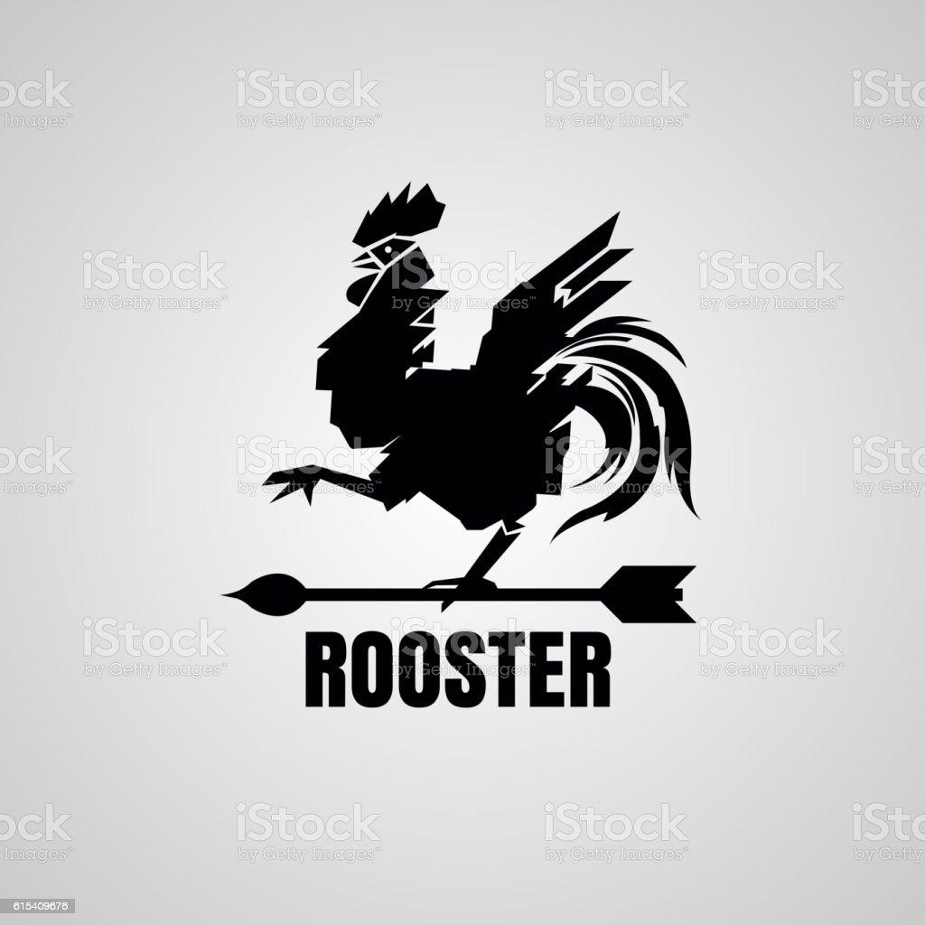 Rooster Symbol. vector art illustration