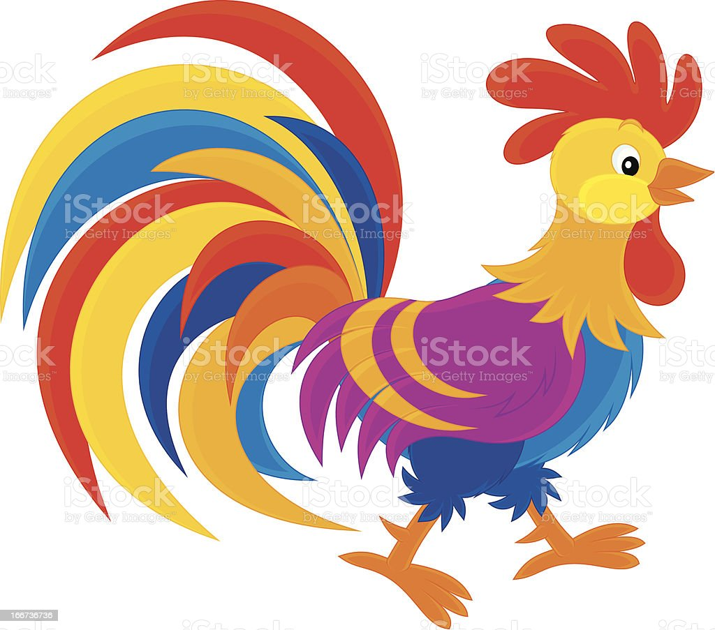 Rooster royalty-free stock vector art
