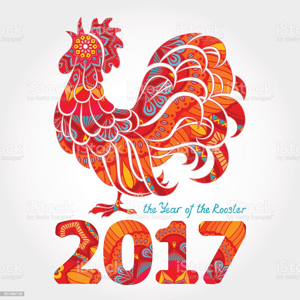 Rooster vector art illustration