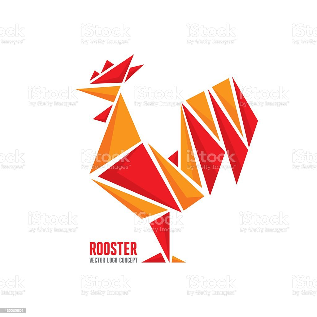 Rooster vector logo concept. vector art illustration
