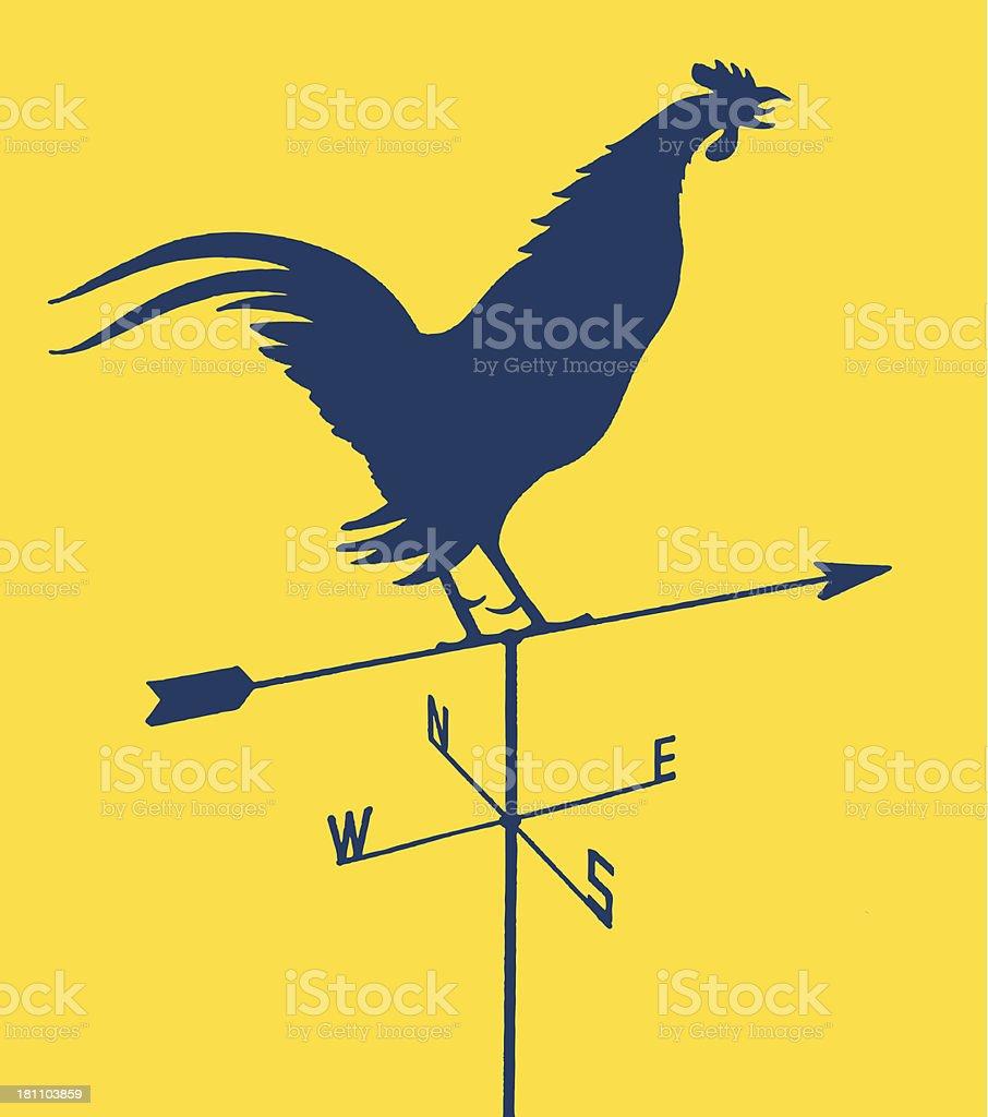 Rooster Weather Vane vector art illustration