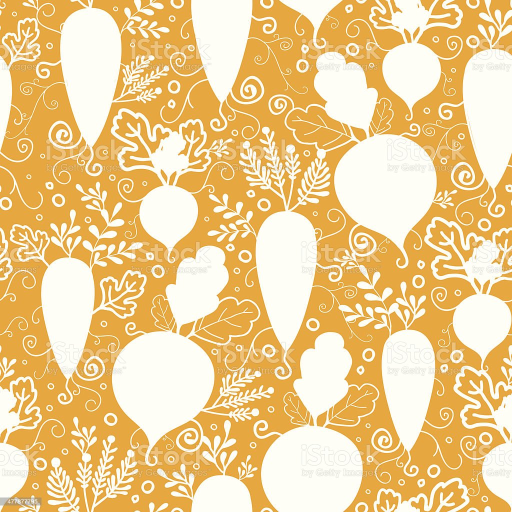 Root vegetables silhouettes seamless pattern background royalty-free stock vector art