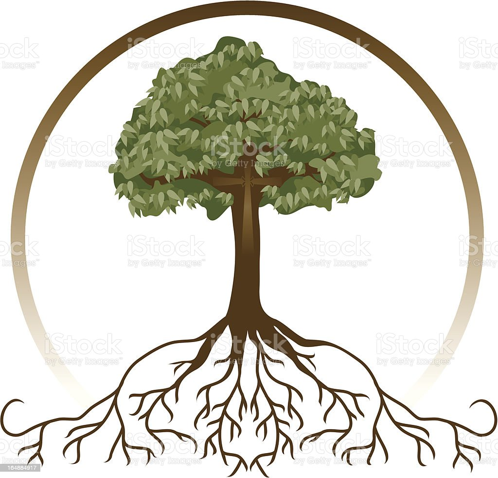 Rooted in Christ (with JPG) vector art illustration