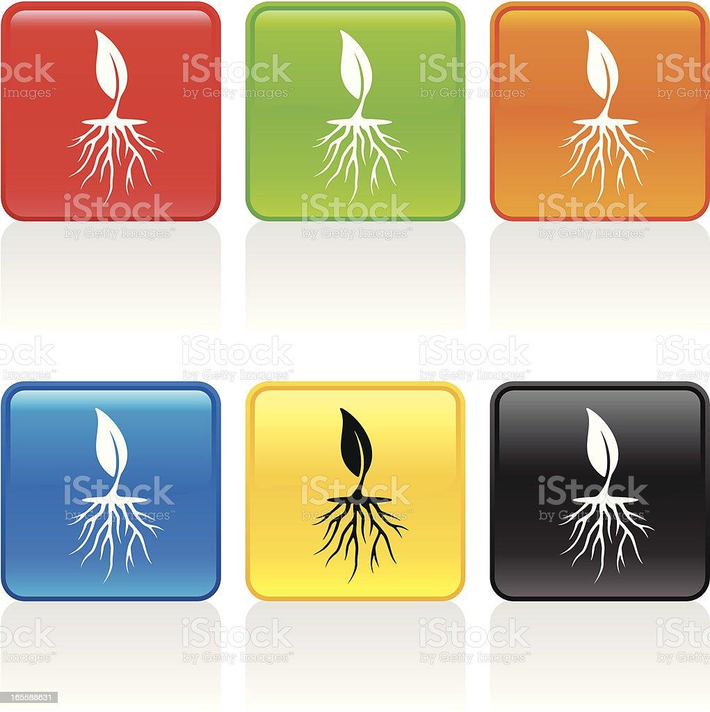 Roots Icon vector art illustration