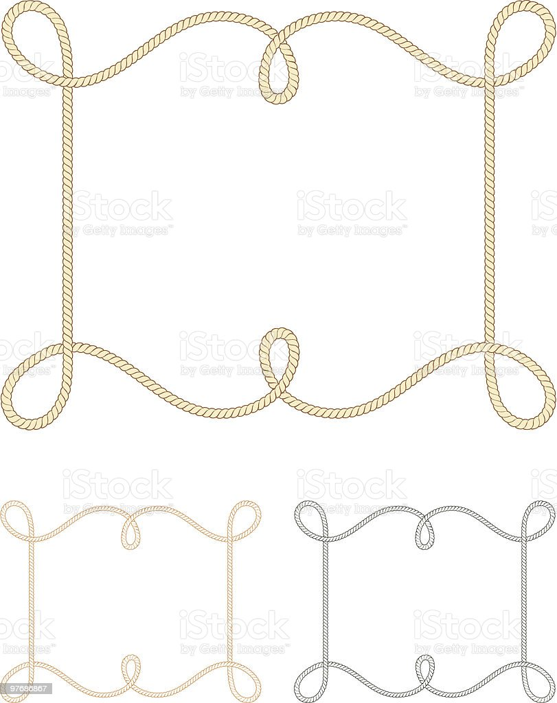Rope Border Design royalty-free stock vector art