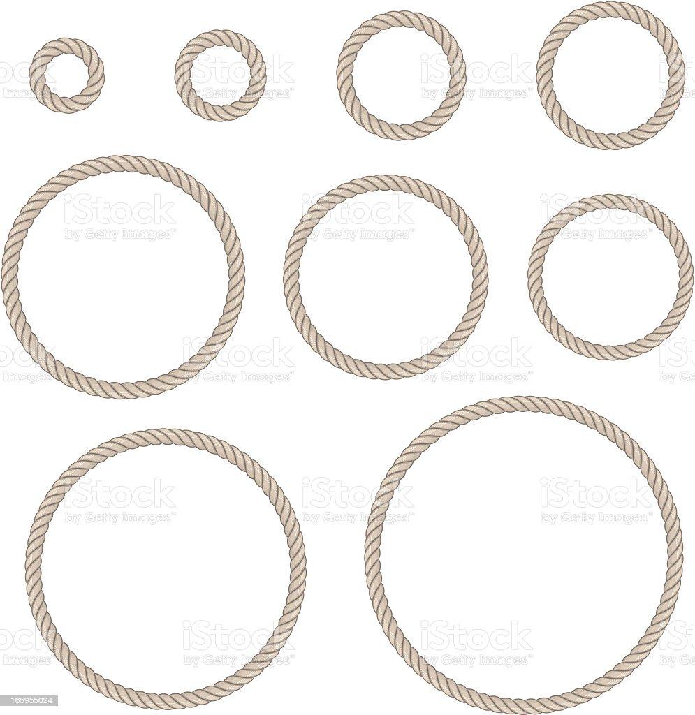 rope circle set royalty-free stock vector art