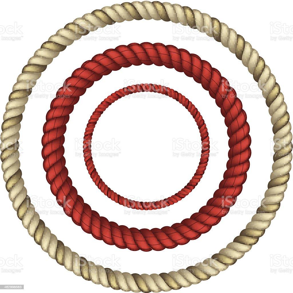 Rope circular vector art illustration