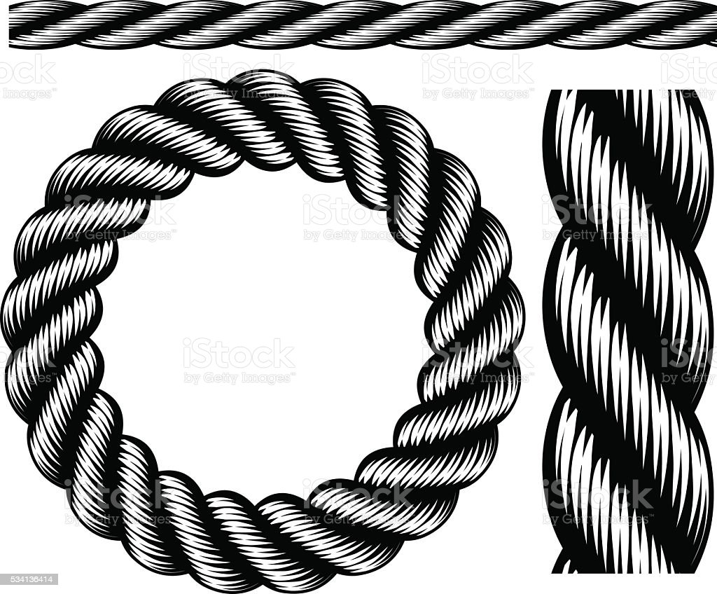 Rope Design Elements vector art illustration