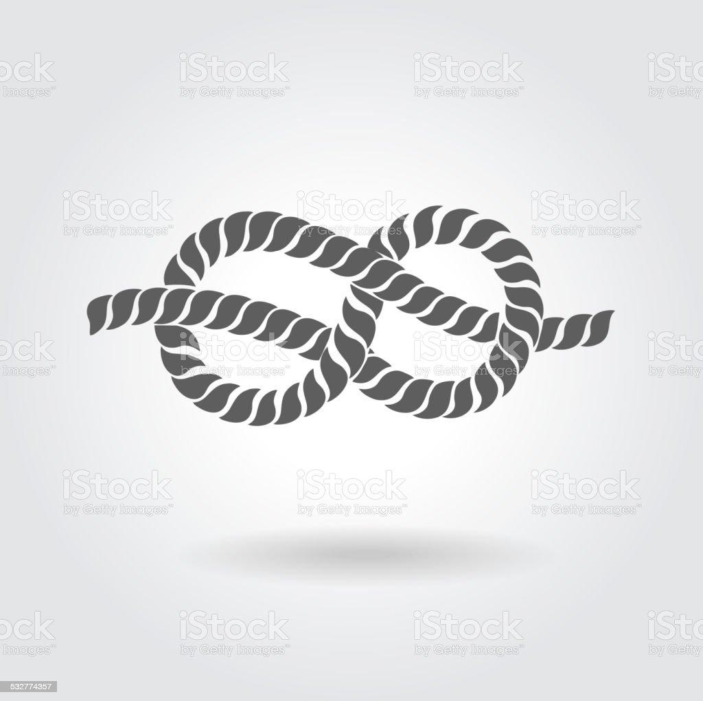 Rope Eight Knot vector art illustration