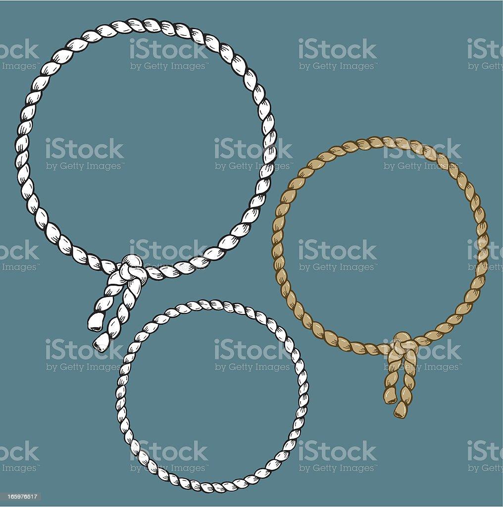 Rope Frame - Circle vector art illustration