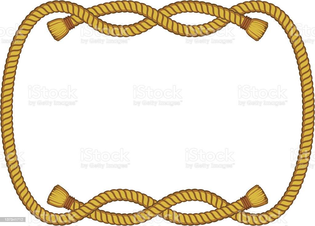 rope frame isolated on white vector art illustration
