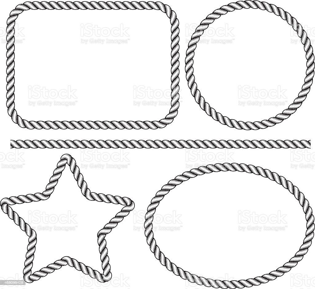rope frame vector art illustration