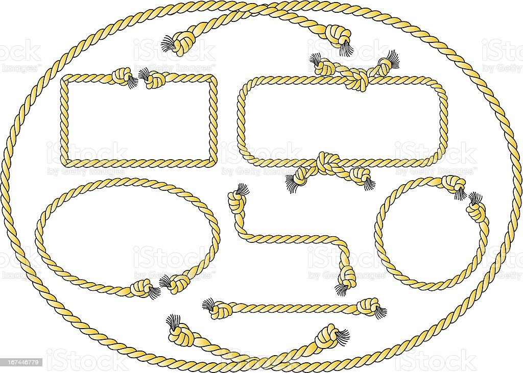 rope frames vector art illustration