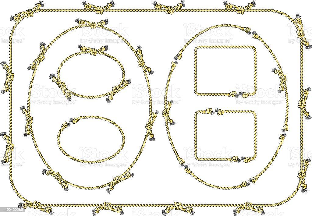 rope frames royalty-free stock vector art