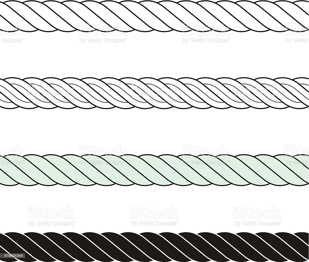 Rope knot-Decorative edge vector art illustration
