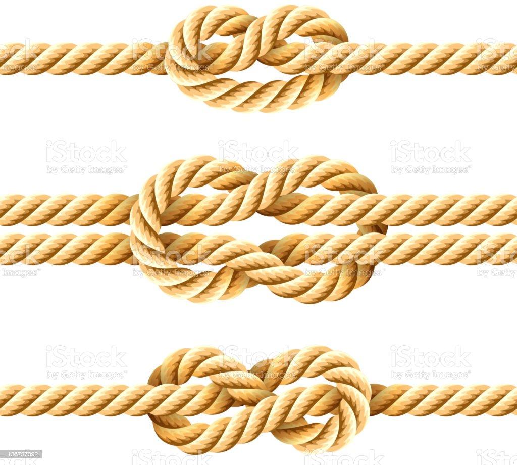 Rope knots royalty-free stock vector art