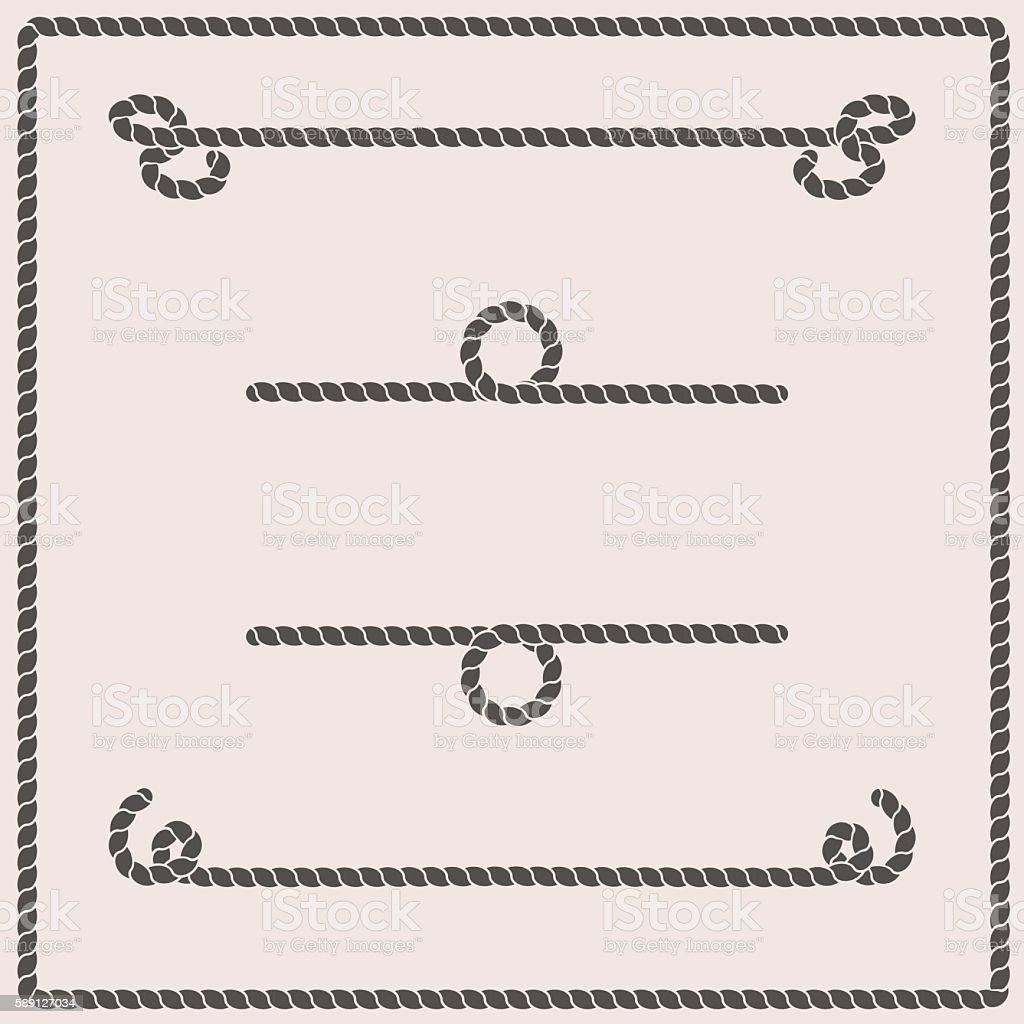 Rope knots vector illustration vector art illustration