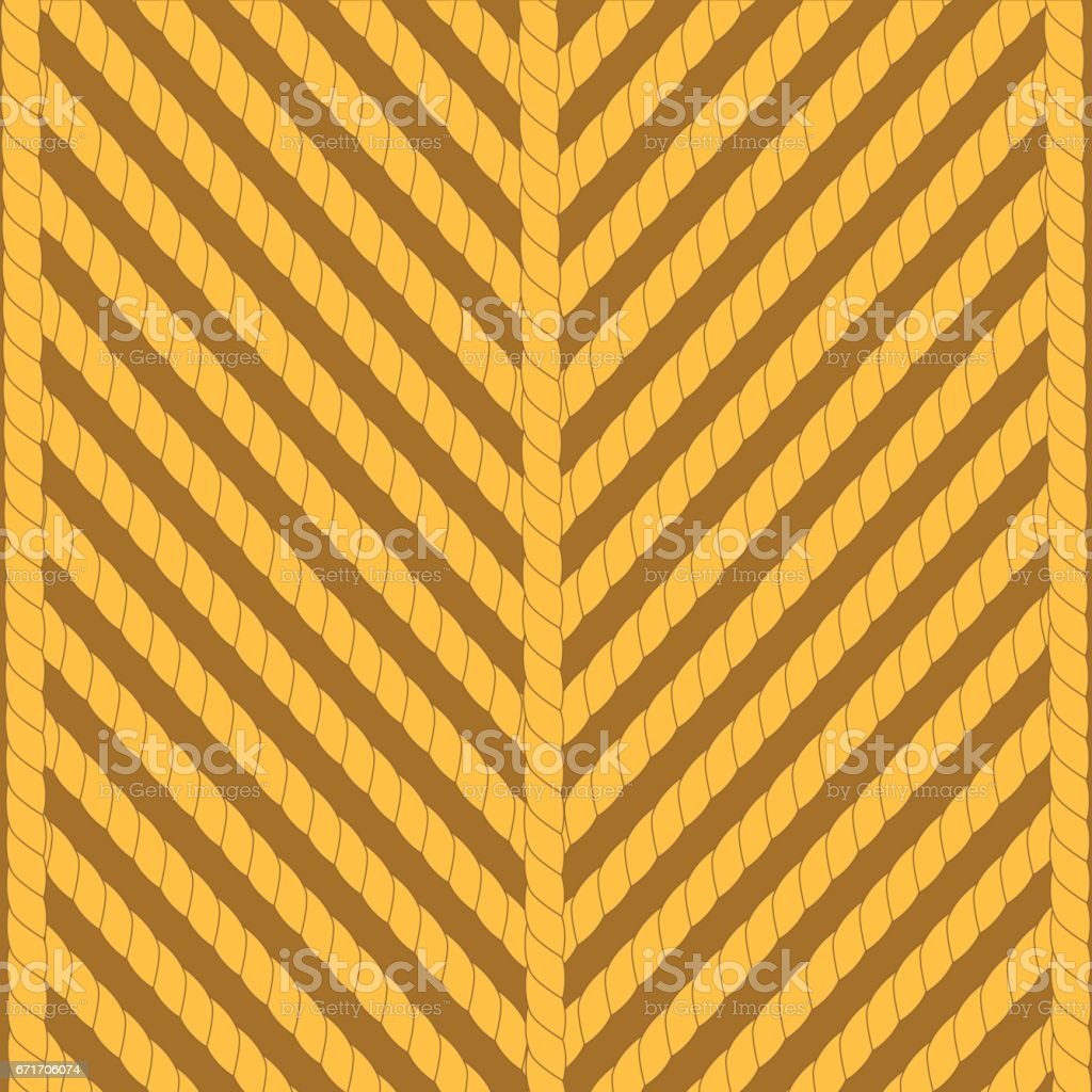 Rope Ornamental Background vector art illustration