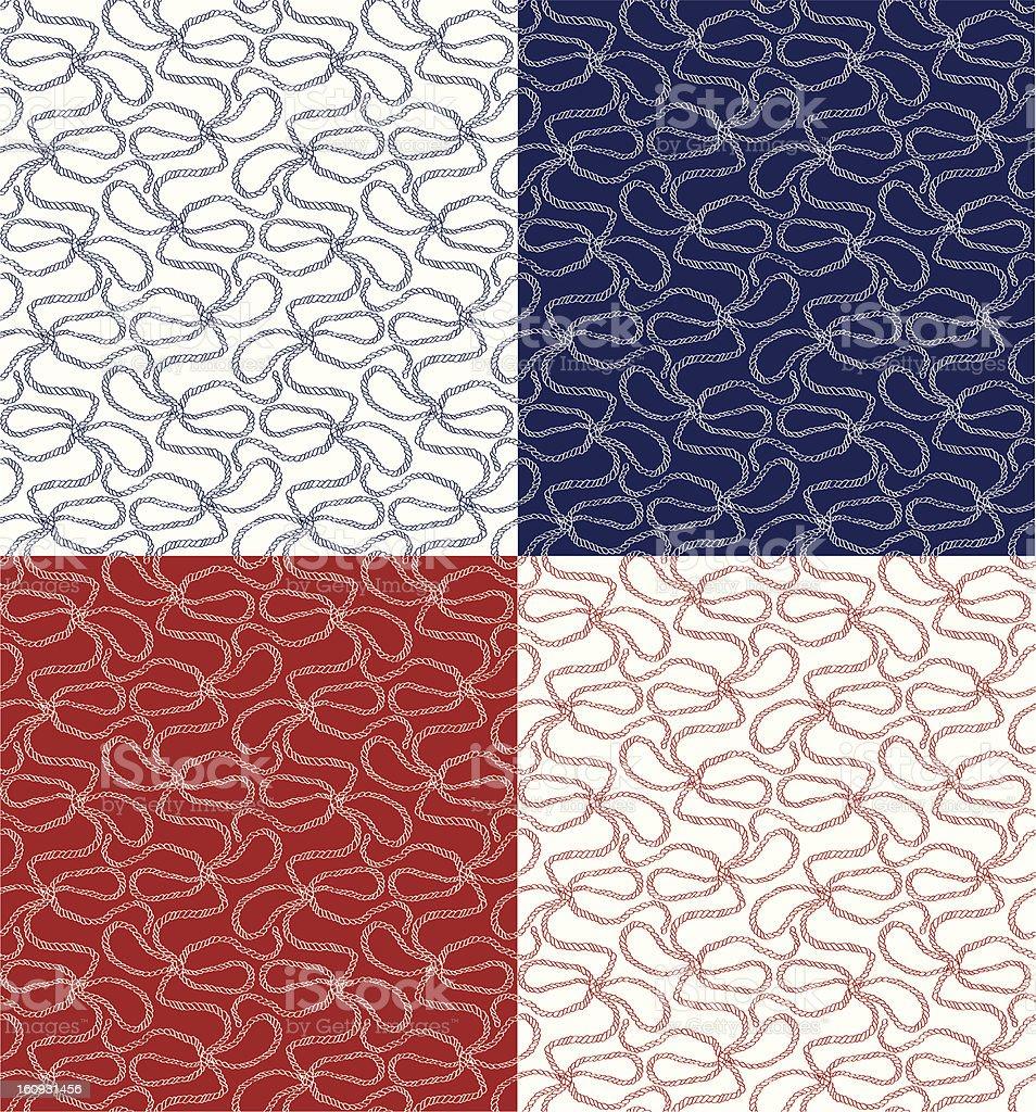 Rope Pattern 02 vector art illustration