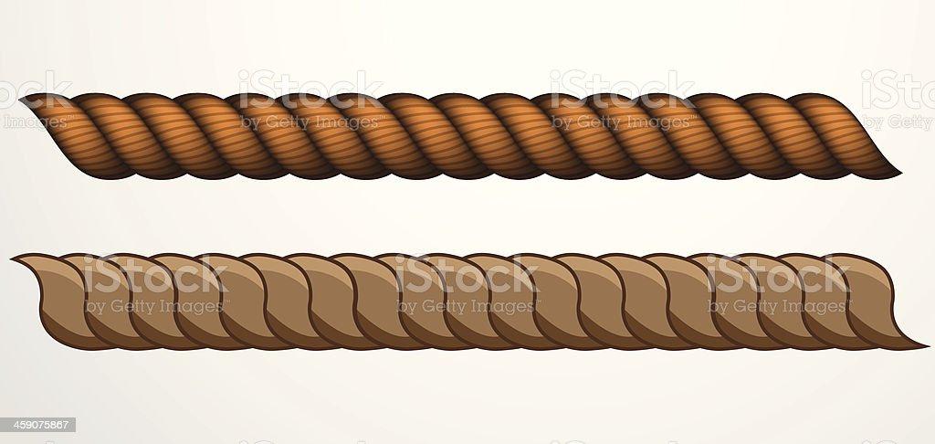 Rope pattern vector art illustration