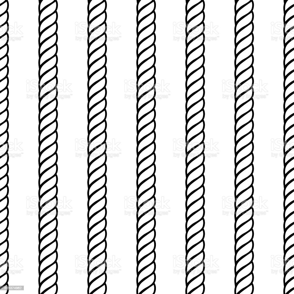 Rope Rows Seamless Background Pattern vector art illustration
