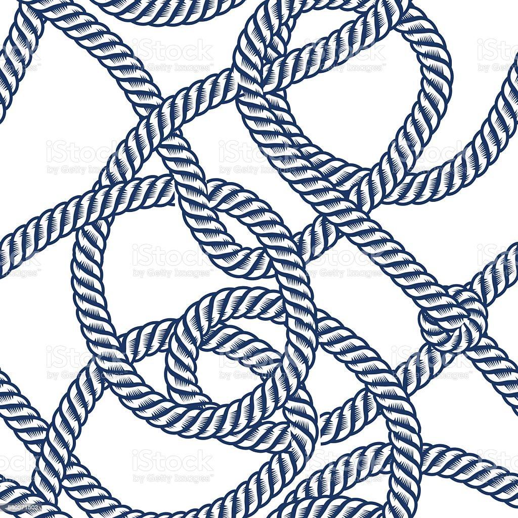 Rope seamless pattern vector art illustration