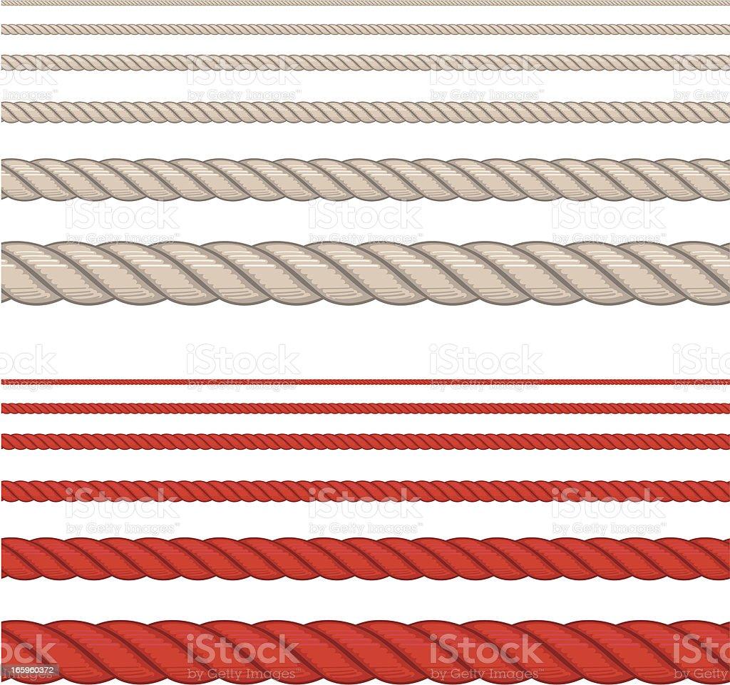 rope seamless vector art illustration
