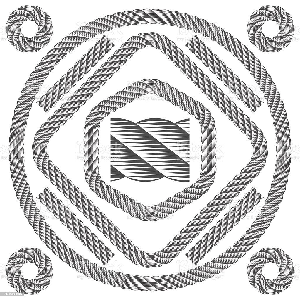 Rope set vector art illustration