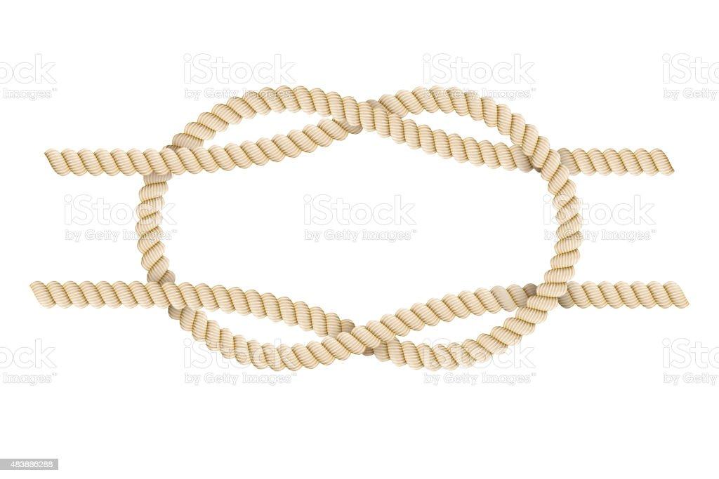rope tied knot sea. Detail design. Vector illustration vector art illustration