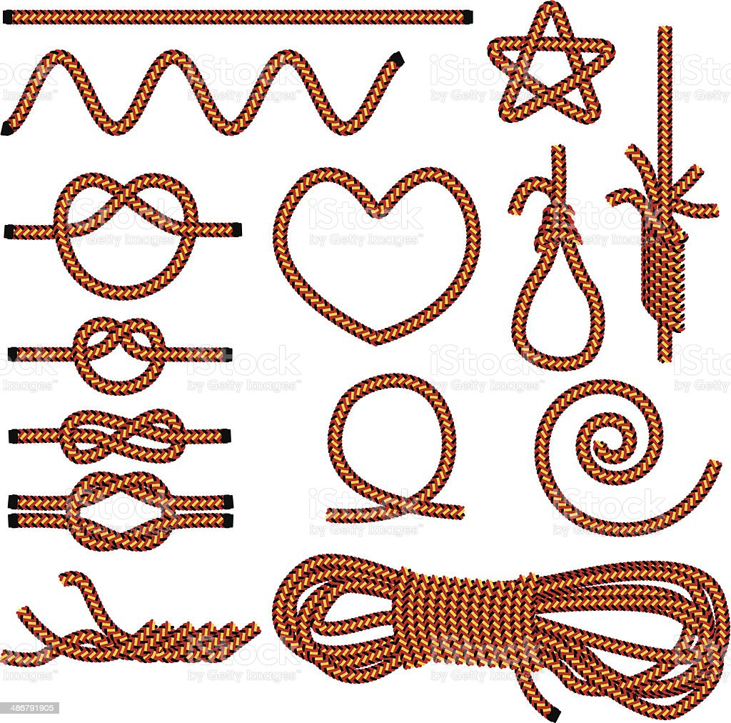 Rope royalty-free stock vector art