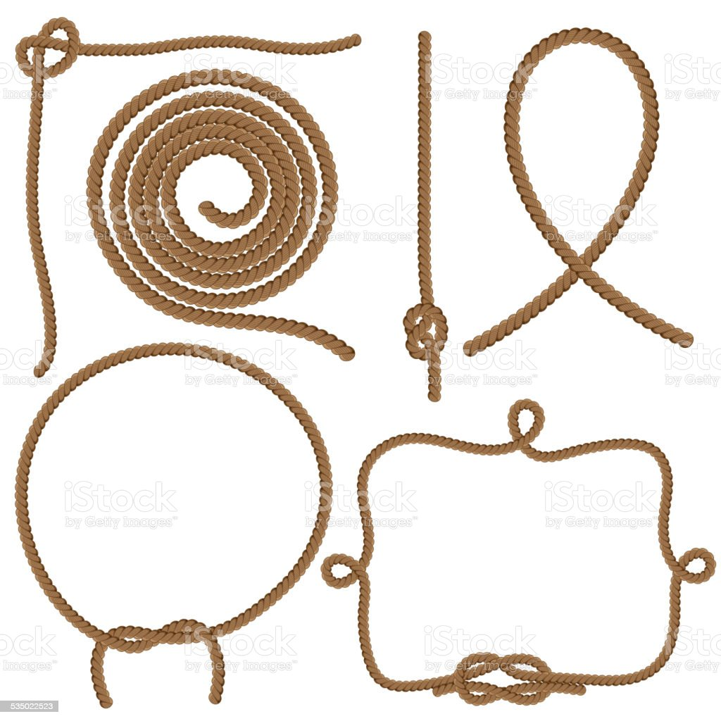 Ropes and Knots vector art illustration
