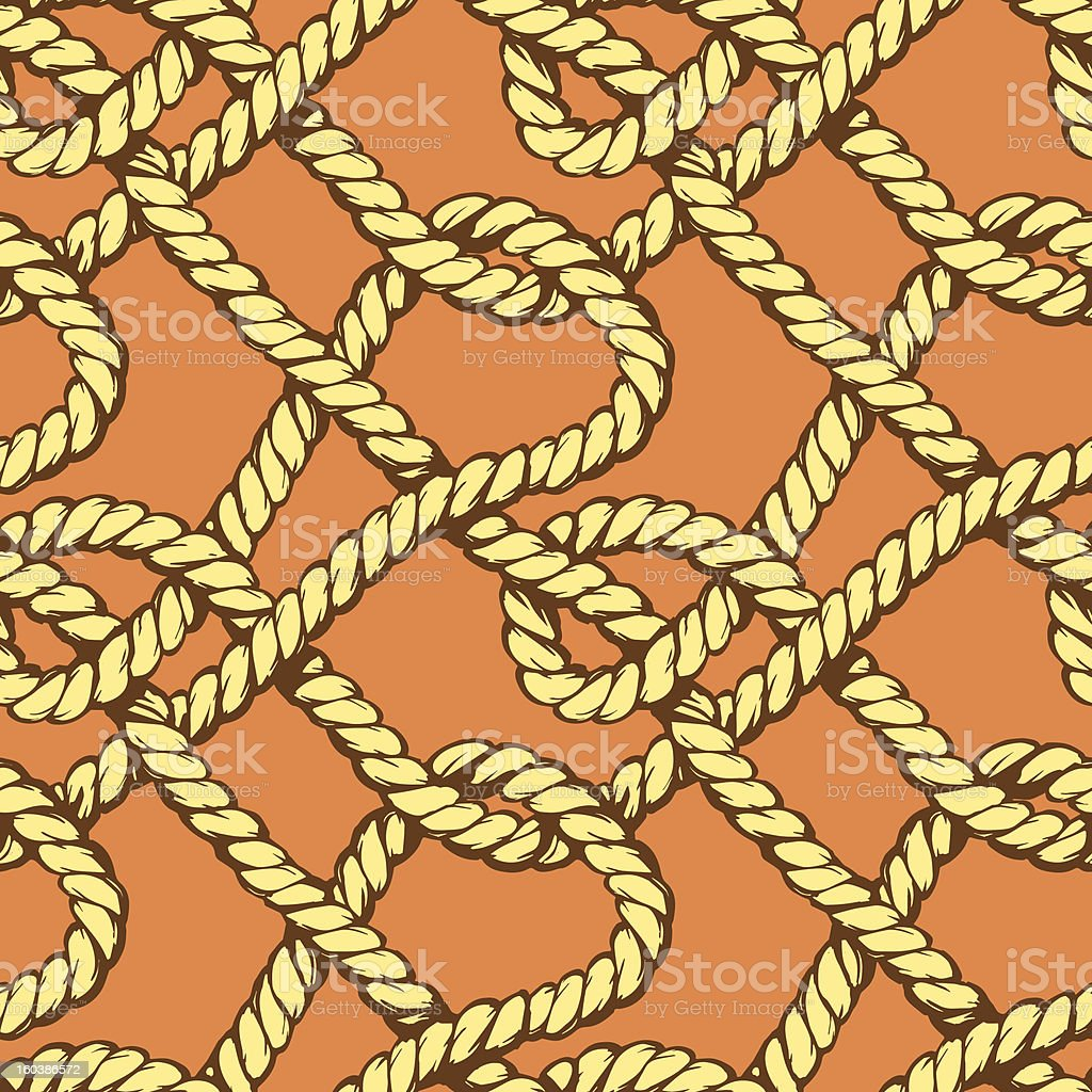 Ropes seamless pattern royalty-free stock vector art