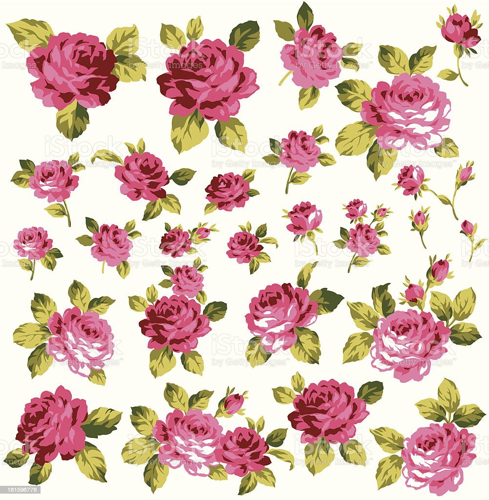 rose a part royalty-free stock vector art