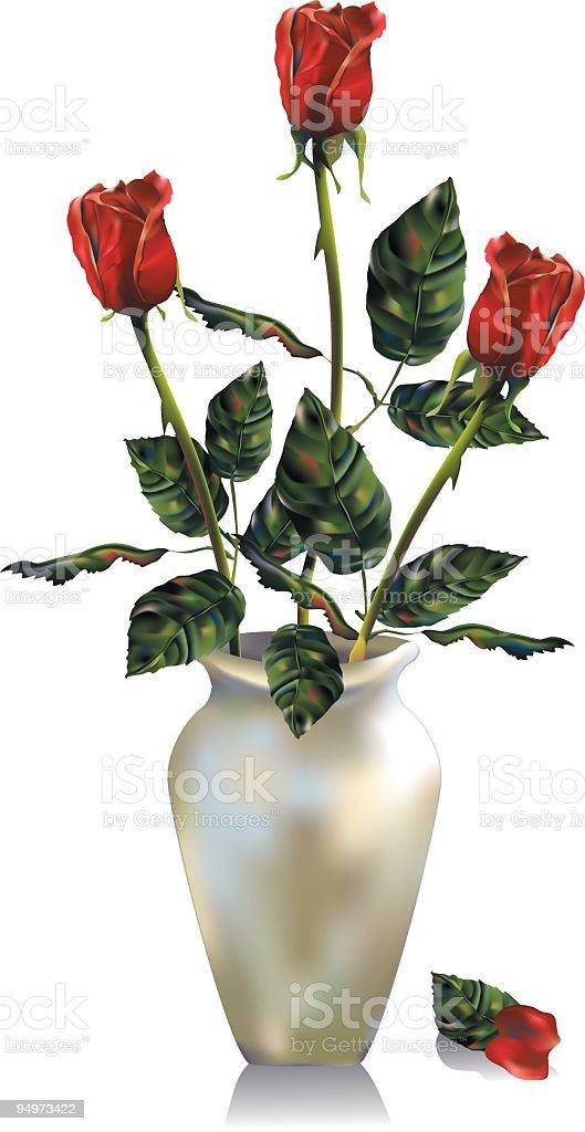 Rose Arrangement - Gradient Mesh royalty-free stock vector art