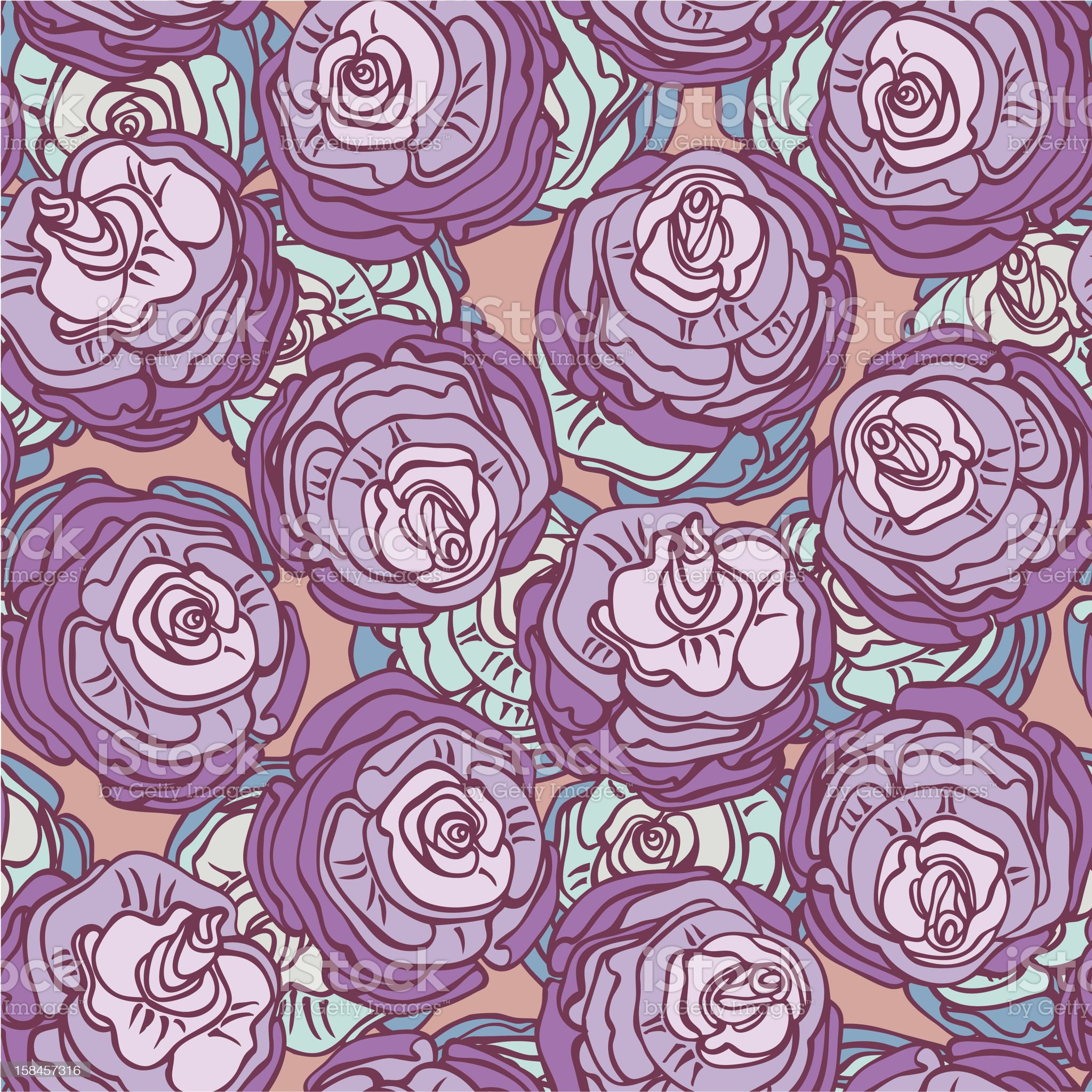 rose buds pattern royalty-free stock vector art