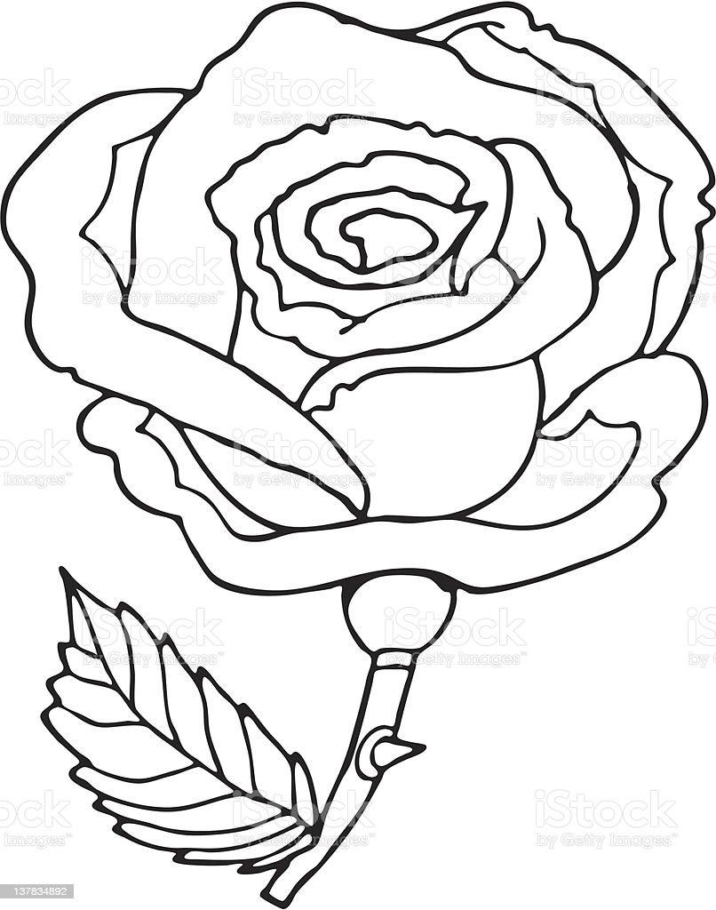 rose cartoon royalty-free stock vector art