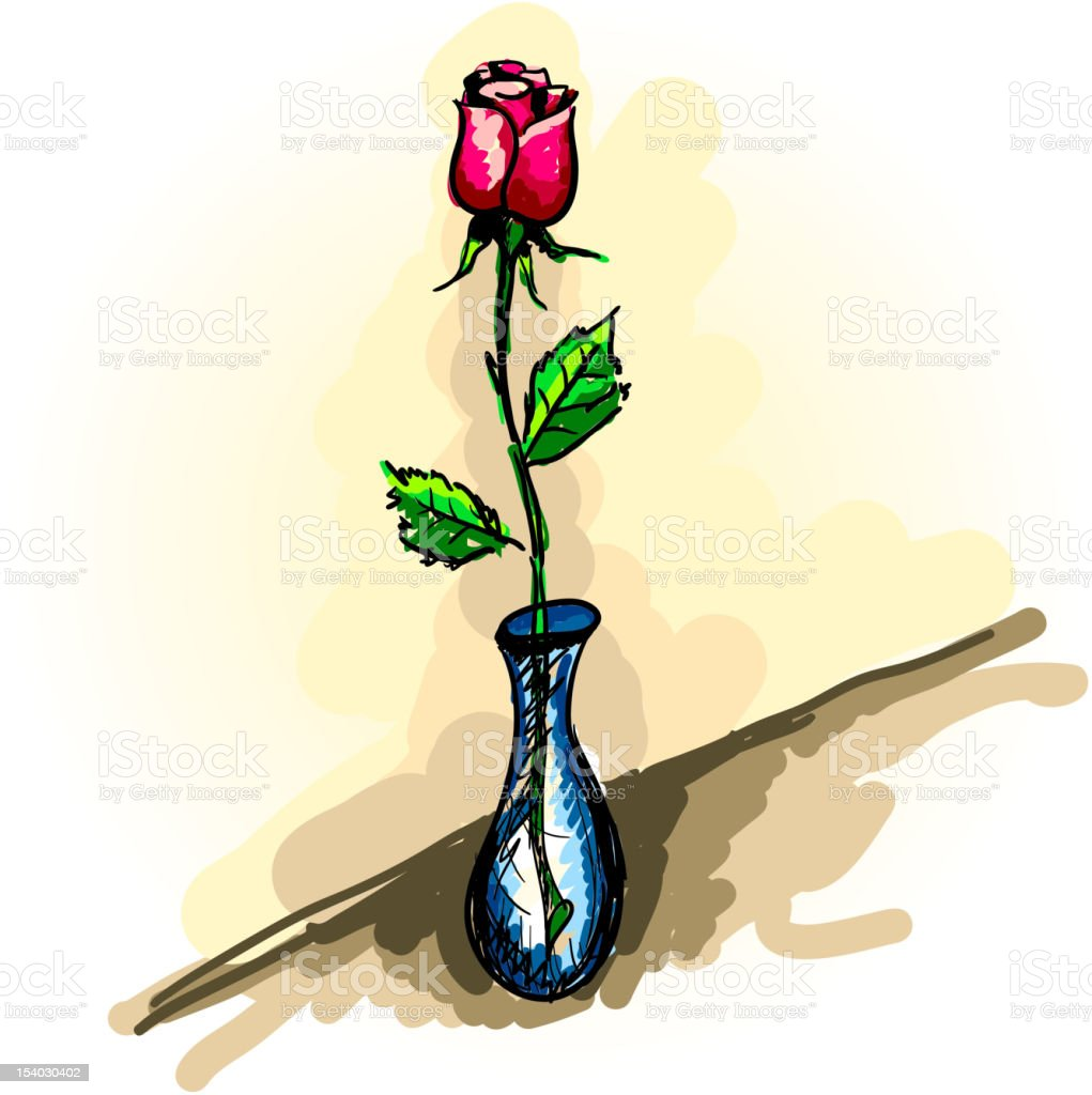 Rose drawing. royalty-free stock vector art