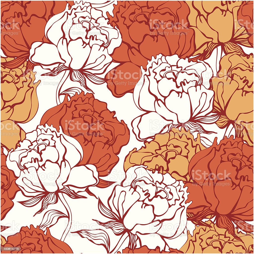 Rose flowers seamless ornament royalty-free stock vector art