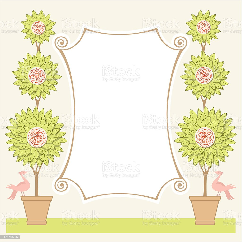 Rose frame royalty-free stock vector art