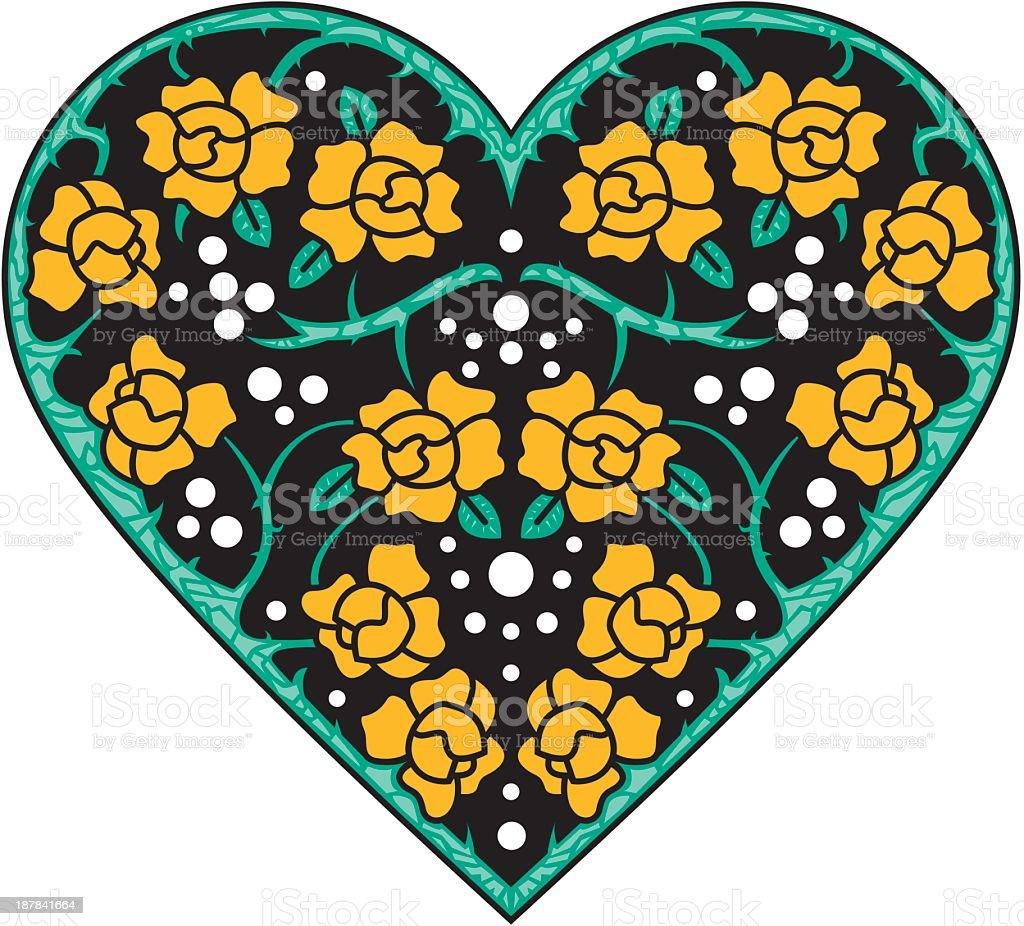Rose Heart royalty-free stock vector art