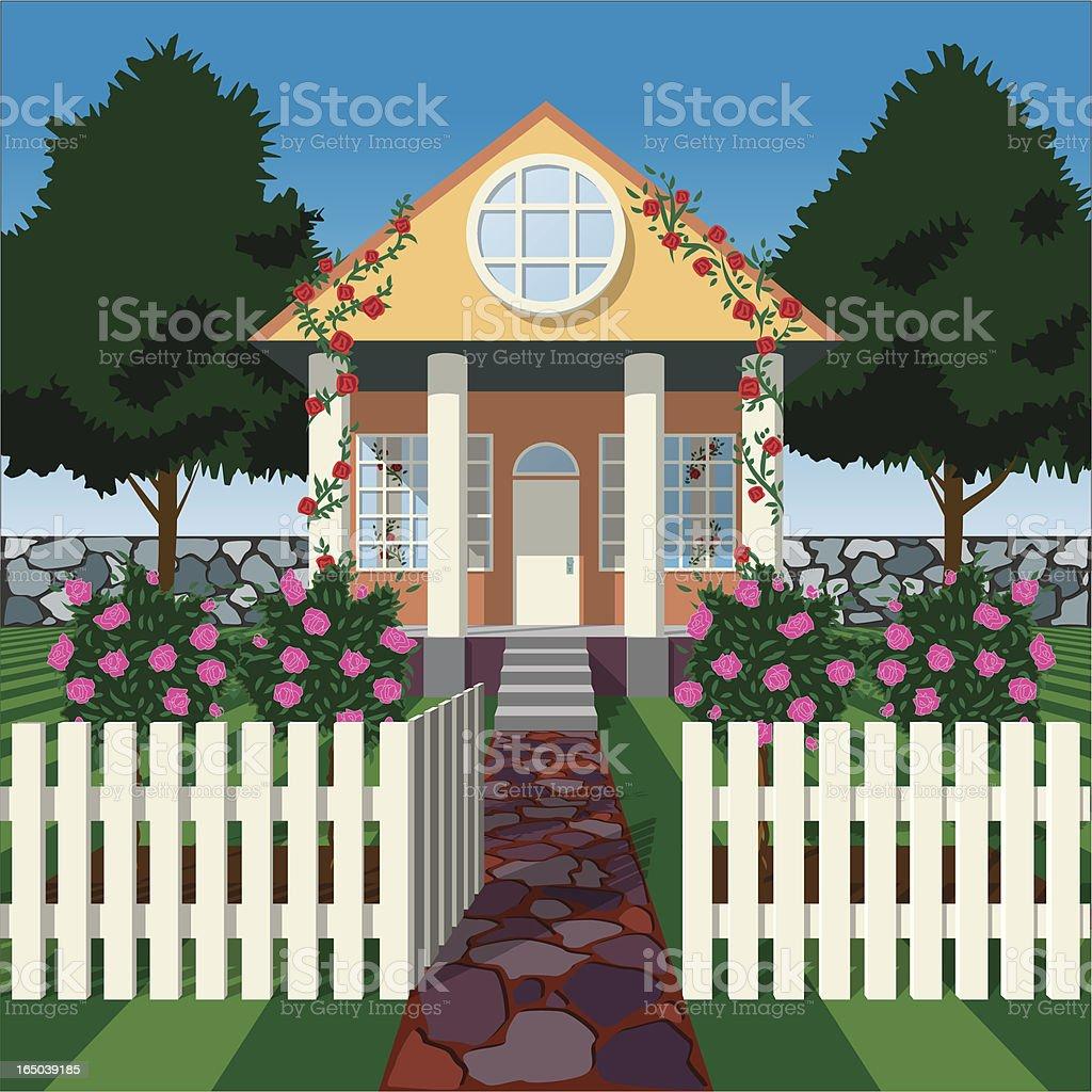 Rose House vector art illustration
