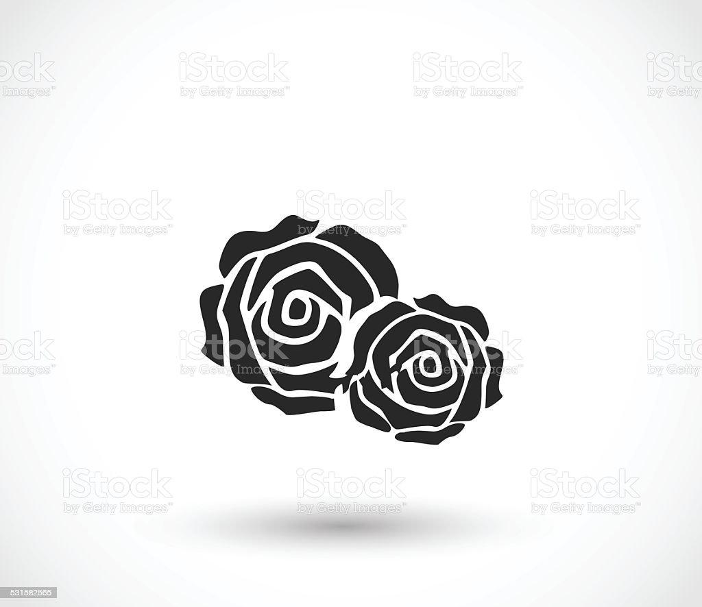 Rose icon vector illustration vector art illustration